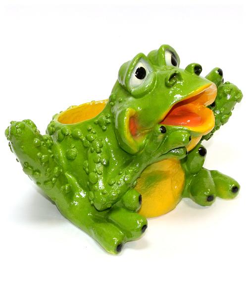 кашпо лягушка