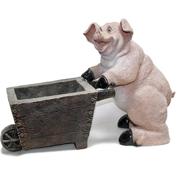 кашпо свинка