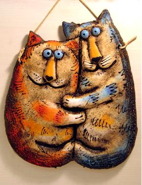 панно коты влюбленные