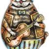 панно кот гитара