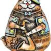 панно кот саксофон