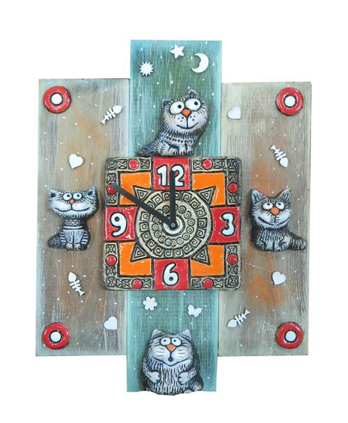 часы с котами