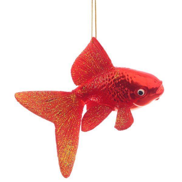 новогодние игрушки золотая рыбка