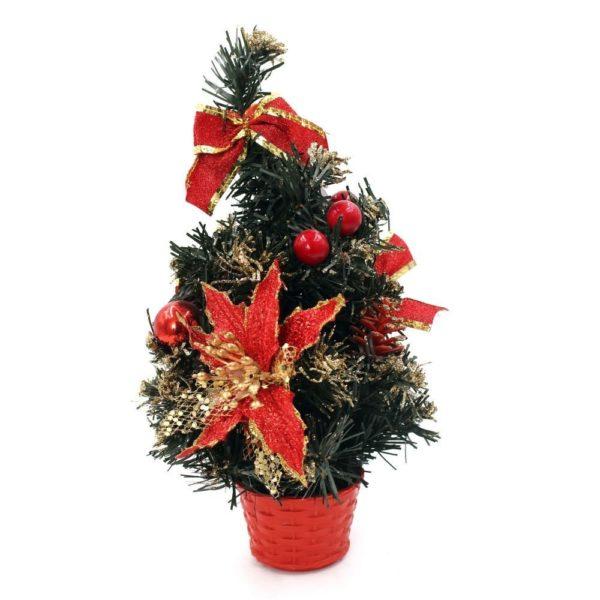 новогодняя елка с украшениями красными