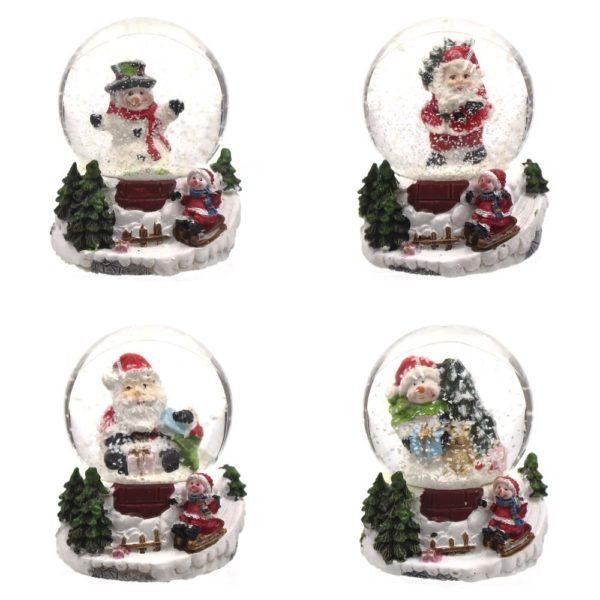 новогодний шар санта снеговик