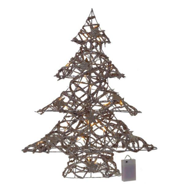сувенир новогодняя елка светящаяся